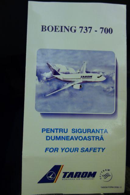 今回は、ルーマニアのタロム航空。