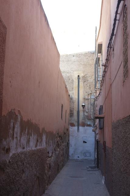 マラケシュに帰還。この周辺の建物は基本、すべてこの淡いピンク色です