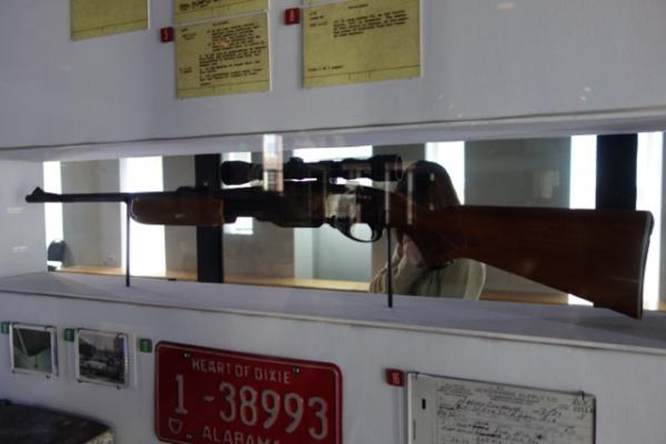 キング牧師を殺した銃。このほかにもかなり情報が豊富な博物館で驚いた。CIAや州が殺害を支援していたのではという説なんかもバッチリ紹介している。