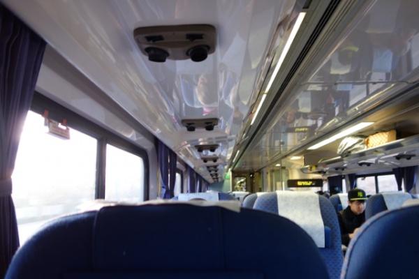 おそらく今回で最後の?Amtrak 近距離路線なのでちょっと車両内のスペースがコンパクト